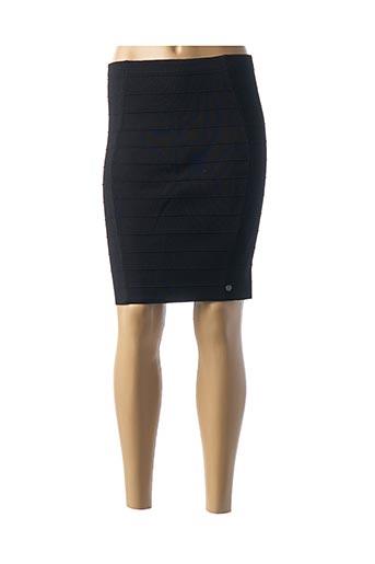 Jupe mi-longue noir KAPORAL pour femme