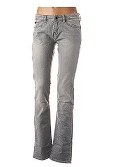 Jeans coupe droite gris KAPORAL pour femme