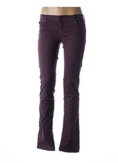 Pantalon casual violet TEDDY SMITH pour femme