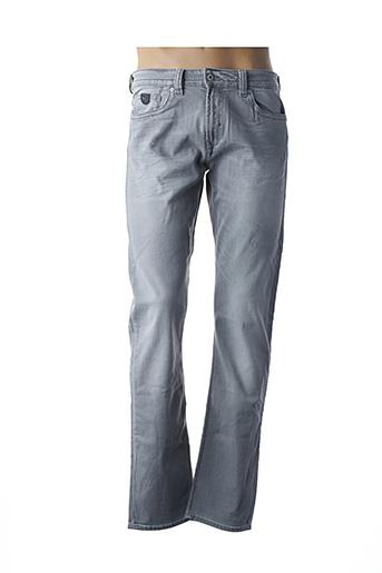 Jeans coupe droite gris KAPORAL pour homme