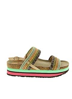 Sandales/Nu pieds beige MALIPARMI pour femme