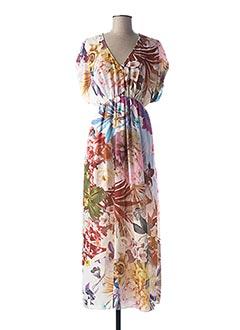 Robe longue rose RINASCIMENTO pour femme