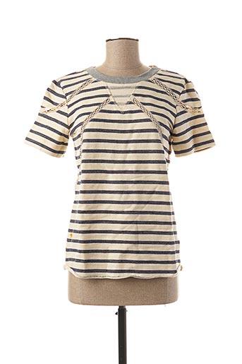 T-shirt manches courtes bleu EKYOG pour femme