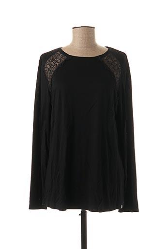T-shirt manches longues noir COTTON BROTHERS pour femme