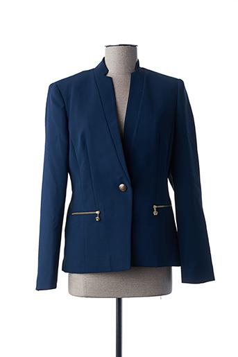Veste chic / Blazer bleu BARILOCHE pour femme