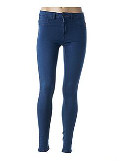 Pantalon casual bleu ICHI pour femme