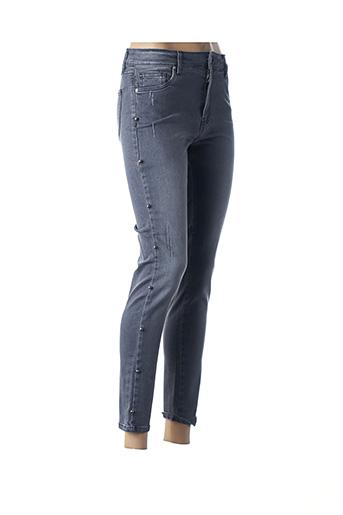 Pantalon 7/8 gris COTTON BROTHERS pour femme