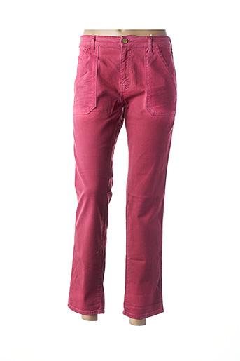 Pantalon 7/8 rose BÔ-M pour femme