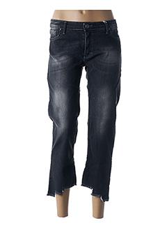 Jeans coupe droite noir RINASCIMENTO pour femme