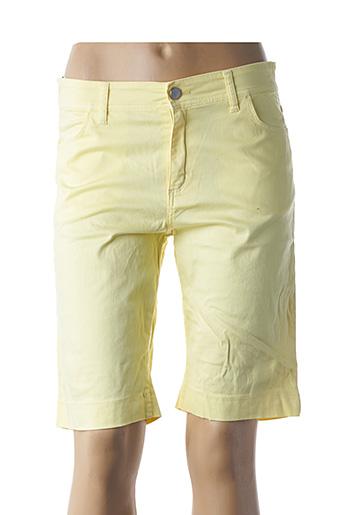 Bermuda jaune COWEST pour femme