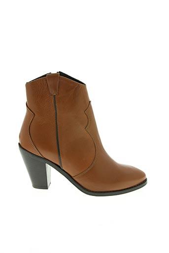 Bottines/Boots marron GIANCARLO pour femme