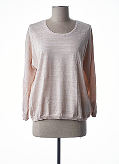 Pull col rond rose I.CODE (By IKKS) pour femme