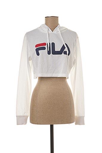 T-shirt manches longues blanc FILA pour femme