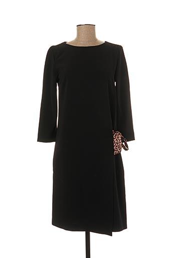 Robe mi-longue noir FRACOMINA pour femme
