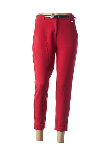 Pantalon 7/8 rouge FRACOMINA pour femme