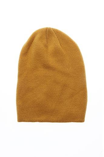 Bonnet jaune PIECES pour femme