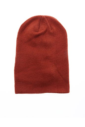 Bonnet marron PIECES pour femme