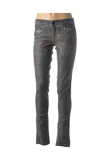 Pantalon casual gris CORLEONE pour femme