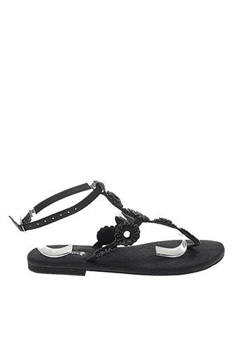 Sandales/Nu pieds noir HOT LAVA pour femme