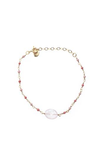 Bracelet rose UNE À UNE pour femme