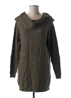 Pull tunique vert ONLY pour femme