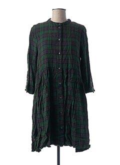 Robe mi-longue vert ONLY pour femme