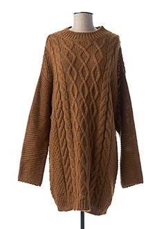 Robe pull marron ESSENTIEL ANTWERP pour femme