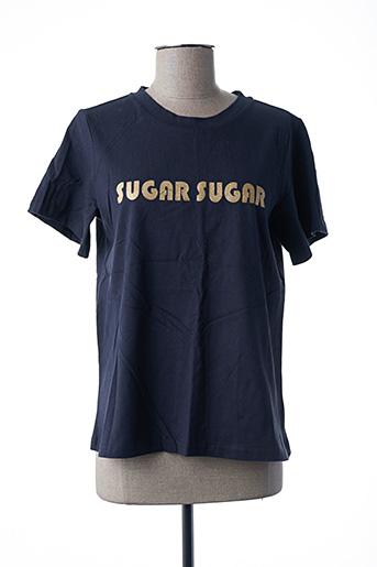 T-shirt manches courtes bleu FRNCH pour femme
