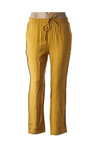 Pantalon casual jaune FRNCH pour femme