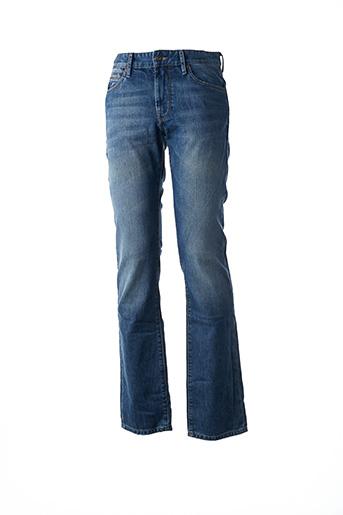 Jeans coupe droite bleu HUGO BOSS pour homme