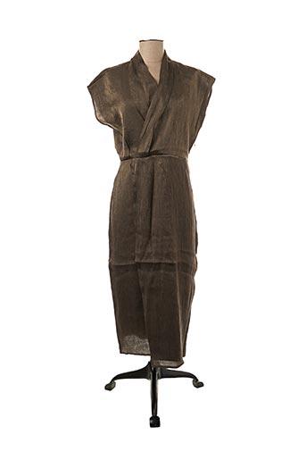 Robe mi-longue marron VILA pour femme