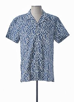 Chemise manches courtes bleu VICOMTE ARTHUR pour homme