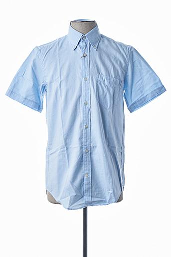 Chemise manches courtes bleu GANT pour homme