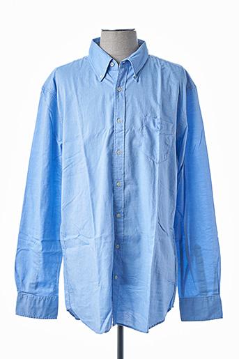 Chemise manches longues bleu GANT pour homme