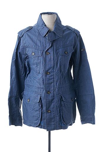 Veste casual bleu HACKETT pour homme