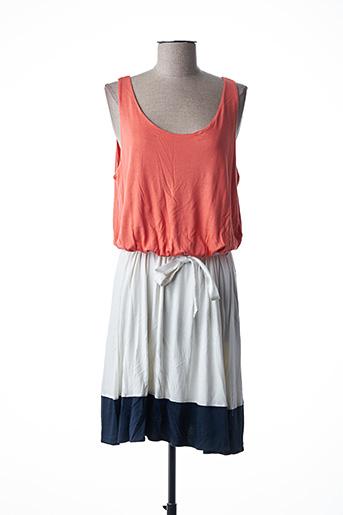 Robe mi-longue orange GANT pour femme