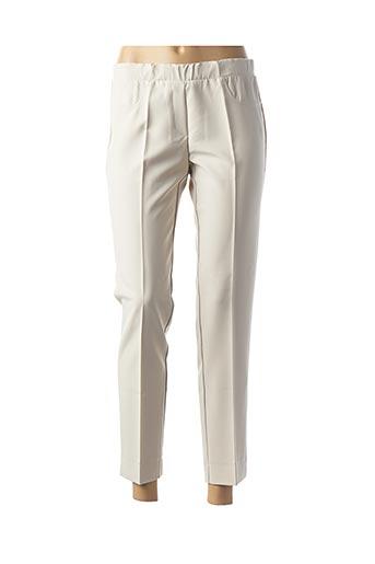 Pantalon 7/8 beige TELMAIL pour femme
