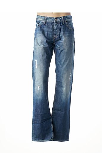 Jeans coupe droite bleu FREESOUL pour homme