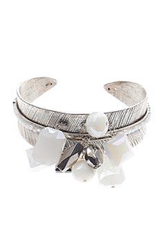 Bracelet Manchette gris TARATATA pour femme