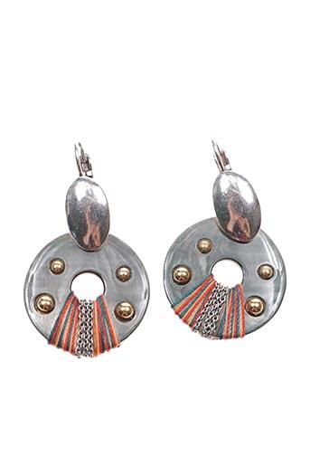 Boucles d'oreilles gris FRANCK HERVAL pour femme