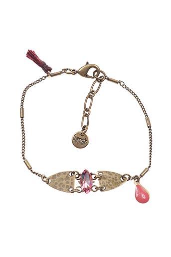Bracelet rose FRANCK HERVAL pour femme