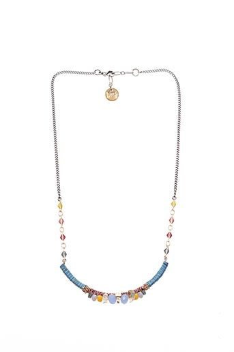 Collier bleu FRANCK HERVAL pour femme
