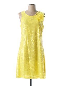 Robe mi-longue jaune GAUDI pour femme