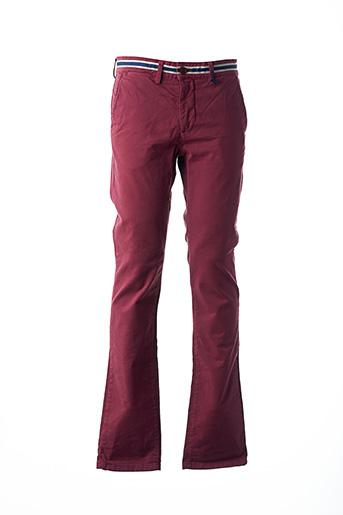 Pantalon casual rouge BACK TO ALASKA pour homme