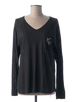 T-shirt manches longues noir FLEUR DE SEL pour femme