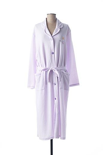 Peignoir violet LINGELOR pour femme