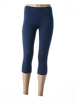 Legging bleu CLAUDE DE SAIVRE pour femme