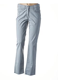Pantalon casual gris CLAUDE DE SAIVRE pour femme