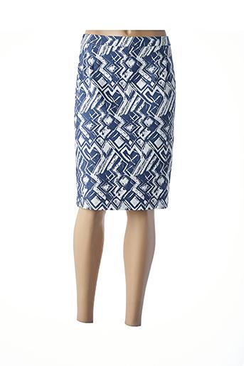 Jupe mi-longue bleu GEVANA pour femme