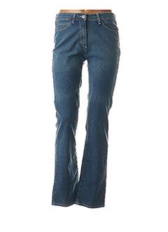 Jeans coupe droite bleu CLAUDE DE SAIVRE pour femme